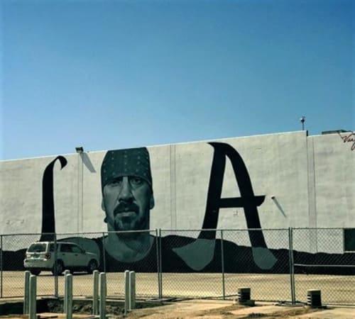 Street Murals by Robert Vargas seen at 585 Santa Fe Avenue, L A, Los Angeles - Can't Stop