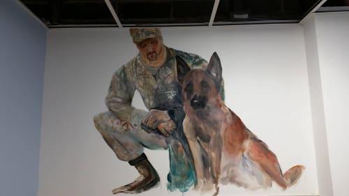 Murals by Jaimee Newman seen at K9 Resorts of Horsham PA, Horsham - Military Room Mural