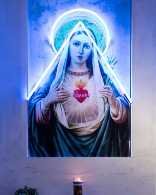 Art & Wall Decor by Nikki Brand seen at De Maria, New York - Virgin Mary