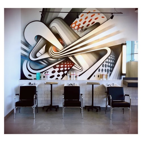Murals by Anna Charney seen at Bishops Haircuts - Hair Color, Highlands Ranch - Indoor Mural