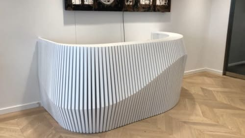 Furniture by Robert Sukrachand seen at One World Trade Center, New York - Curved Parametric Desk
