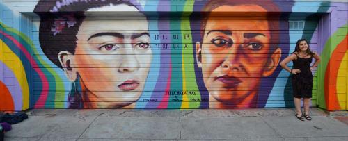 Street Murals by Julia Nada seen at 25th Street, Mission District, San Francisco - Infinita Ternura