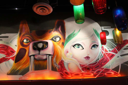 Murals by Yuhmi Collective seen at Piola, Miami - Alis Volat