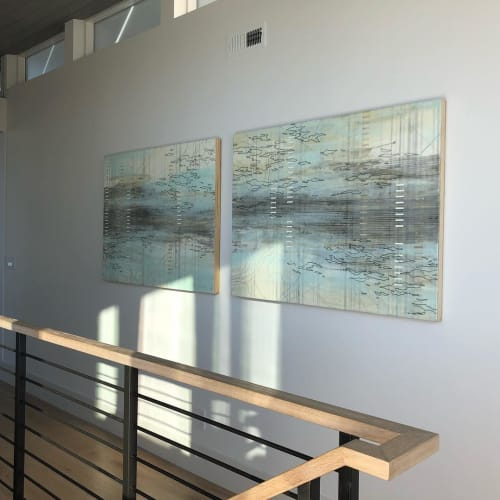 "Paintings by Lisa Kairos seen at Private Residence, Hillsborough - ""Span"""