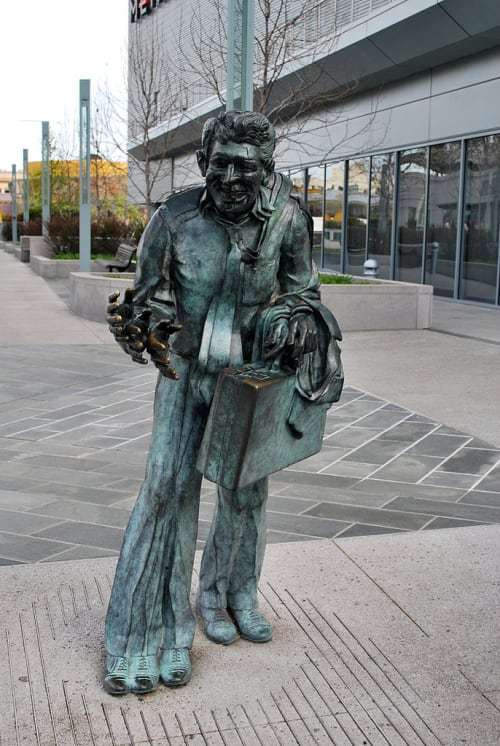 Public Sculptures by Terry Allen seen at Yerba Buena Gardens, San Francisco - Shaking Man
