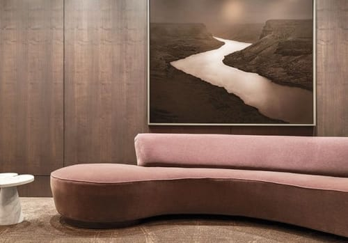Couches & Sofas by Vladimir Kagan seen at Ten Thousand, Los Angeles - Free Form Curved Sofa