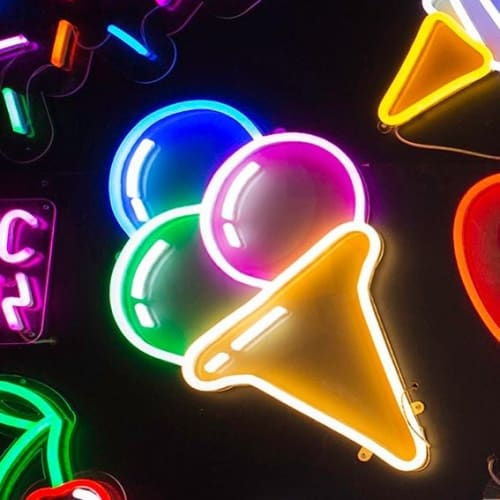 Signage by Electric Confetti seen at Sugar Republic, Fitzroy - Neon Wall