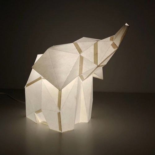 Lamps by OWL paperlamps seen at Private Residence, Lisbon - Baby Elephant Paperlamp