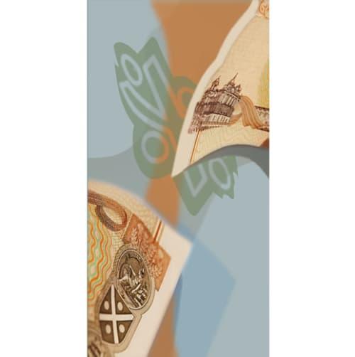 Art & Wall Decor by Laura Hull seen at £10 (Ten Pound Bar), Beverly Hills - Ten-Pound Note Framed Print #2
