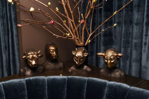Sculptures by Charming Baker seen at The Blond, New York - Animal Busts