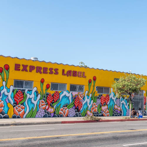 Street Murals by Aaron Kai at 3665 Beverly Blvd, Los Angeles - Express Label