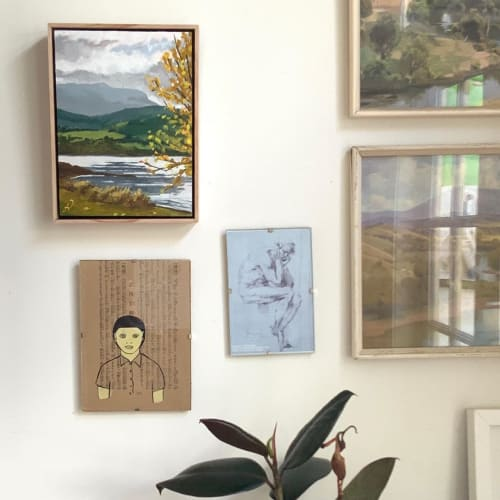 Paintings by Fiona Verdouw Art seen at Private Residence, Margate - 'Letting Go' Painting
