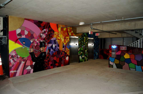 Murals by Chor Boogie seen at Palm Avenue Parking Garage, Sarasota - The Session