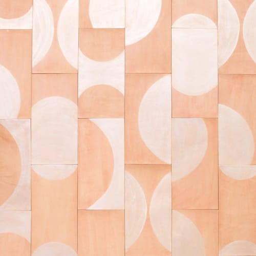 "Art & Wall Decor by AVO (Brit Kleinman) seen at Studio Four NYC, New York - ""Pivot"" Leather Tile"