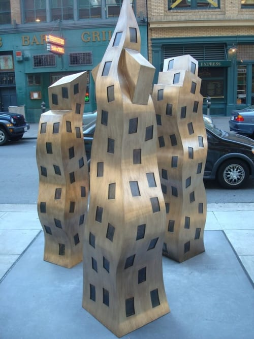Public Sculptures by Alex MacLeitch seen at 275 Sacramento Street, SF, San Francisco - The City