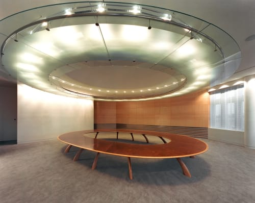 Tables by John Makepeace seen at Banque de Luxembourg, Luxembourg - Boardroom Furniture