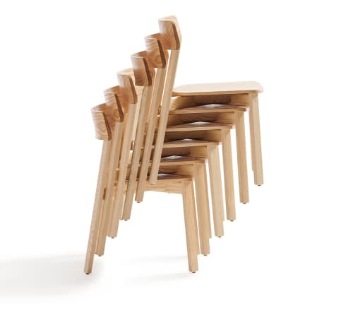 Chairs by Most Modest seen at Most Modest Design Studio, Stockton - Stackton Wood Stacking Chair