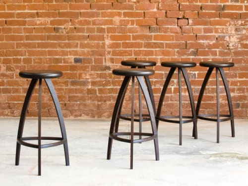 Chairs by Neil Turner seen at Private Residence, Melbourne, VIC, Melbourne - Jarrah Stools