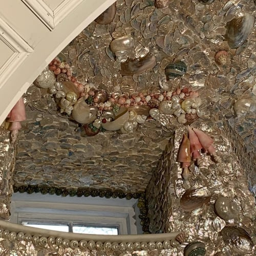 Wall Treatments by Christa Wilm seen at The Bellevue House, Newport - Shell Decor