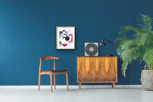 "Paintings by K'era Morgan seen at Creator's Studio, Los Angeles - ""Splish Splash"""