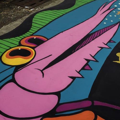 Street Murals by Nicolas Barrome seen at Kaohsiung, Kaohsiung - The Street of Kaohsiung Mural
