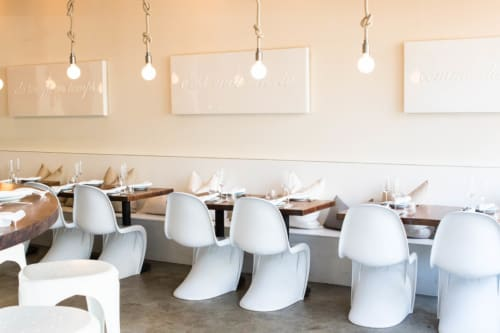 Paintings by Lucky Rapp seen at Petit Crenn, San Francisco - Canvas and Resin Wall Art