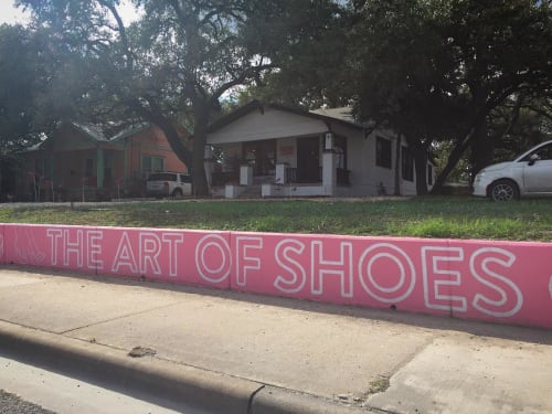 "Street Murals by Sapira Design seen at The Art of Shoes, Austin - ""The Art of Shoes"" mural"