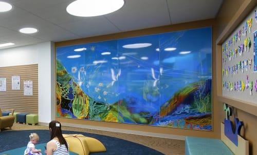 Murals by Christine Nguyen seen at Malibu Library, Malibu - Oceanic Cosmic Whisper