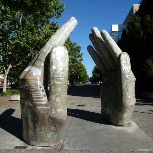 Sculptures by Donna Billick seen at John Barroso Real Estate, Chico - Our Hands
