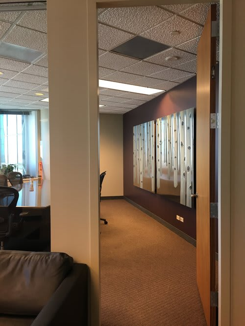 Paintings by MAI WYN FINE ART at Jester Gibson & Moore LLP, Denver - Sentinels painting