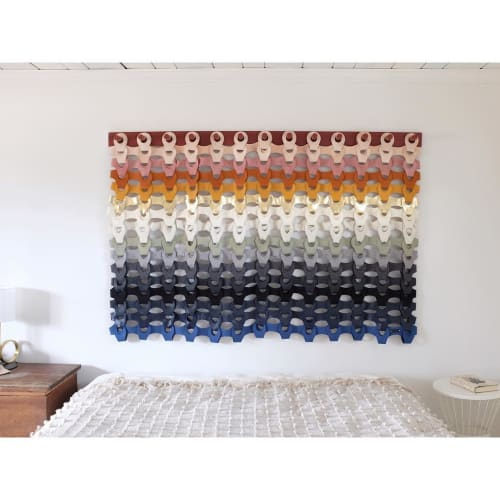 Wall Hangings by Moses Nadel seen at The Woodhouse Lodge, Greenville - Rainbow Woven Tapestry