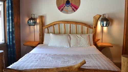 Lighting by Heather Levine at Ojai Rancho Inn, Ojai - Bedroom Wall Lamps