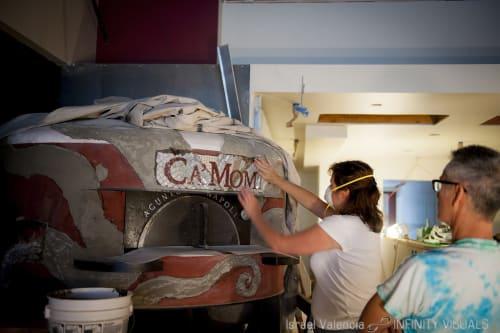 Public Mosaics by Kristina Young at Ca' Momi Osteria, Napa, Napa - 'Athena' Mosaic Pizza Oven