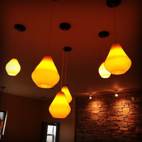 Lighting by Curiousa & Curiousa seen at Apis Restaurant & Apiary, Spicewood - Acid Drops Lights