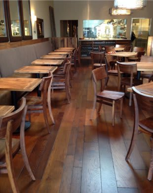 Tables by Black's Farmwood at Nico, San Francisco - Reclaimed Wood Table Tops
