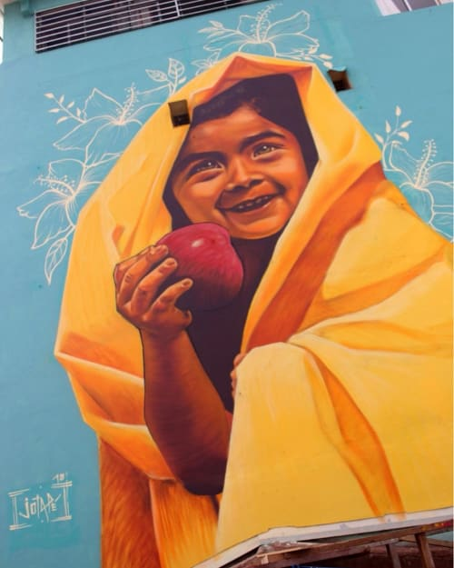 La manzana   Street Murals by JP   Leonardo Murialdo College in Valparaíso