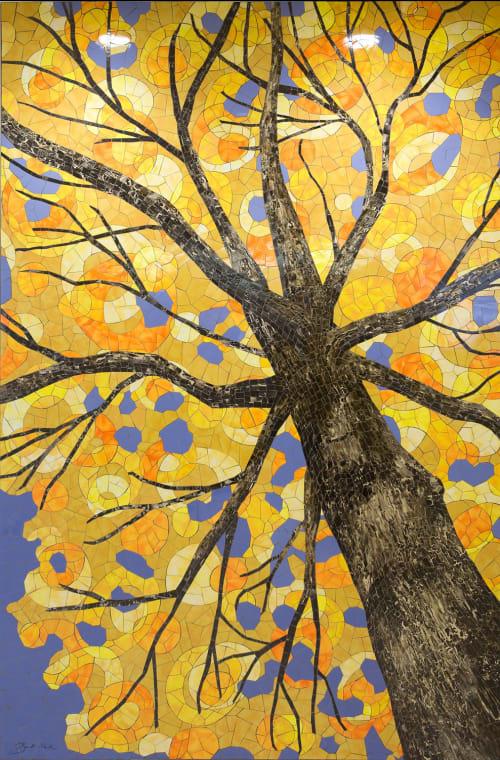 Murals by Bebe Keith seen at Minneapolis–Saint Paul International Airport (MSP) - Maple in Autumn