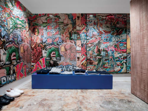 Murals by Koichi Enomoto seen at Dover Street Market - Vinyl Wall Covering