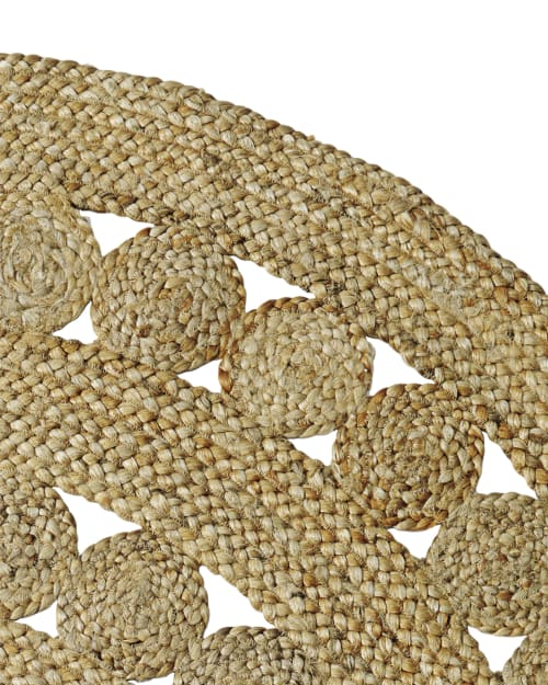 Rugs by Serena & Lily seen at The Joshua Tree Casita, Joshua Tree - Round Jute Rug