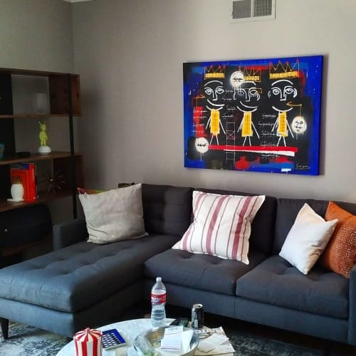 Paintings by Soren Grau seen at Private Residence, West Hollywood - Painting