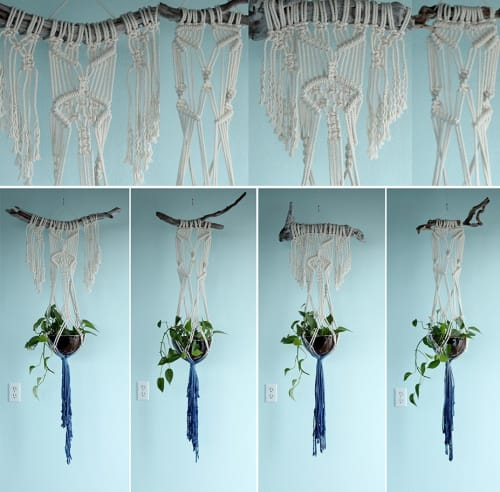 Macrame Wall Hanging by Free Creatures at Morning Glory Cafe Eugene, Eugene - Plant Hanger Macrame