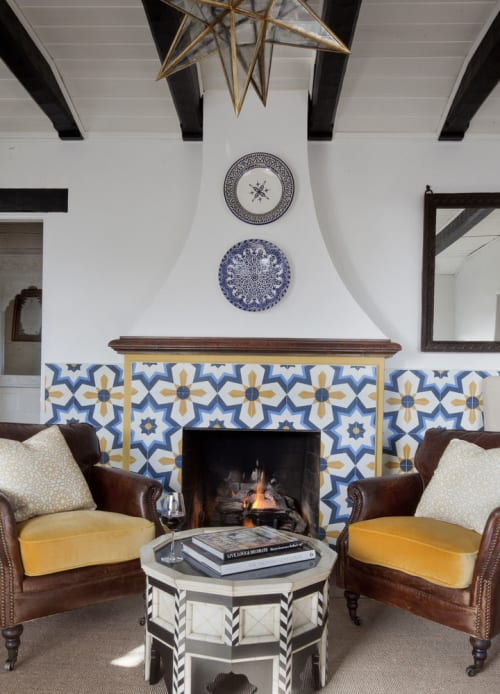 Tiles by Granada Tile seen at Casa Laguna, Laguna Beach - Estrella Cement Tiles