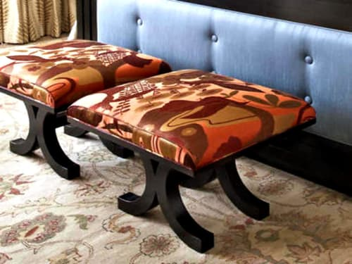 Chairs by Plush Home by Nina Petronzio seen at Montage Beverly Hills, Beverly Hills - Park Avenue Ottoman