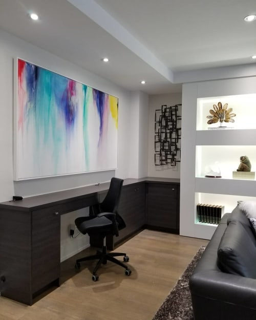 Paintings by Peter Triantos seen at Private Residence, Toronto - Splash Of Color