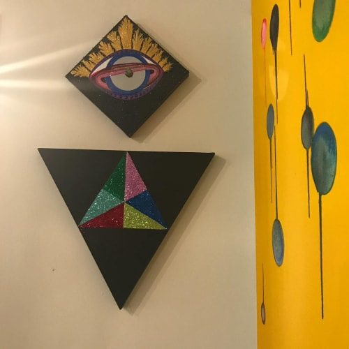 Paintings by PrisciFranco seen at Soho House West Hollywood, West Hollywood - HORUS • DOXA • COLLECTIVE UN\CONSCIOUS
