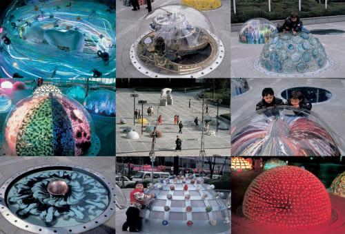 Sculptures by Eric Staller seen at TWIN21, Chūō-ku - Magic Garden