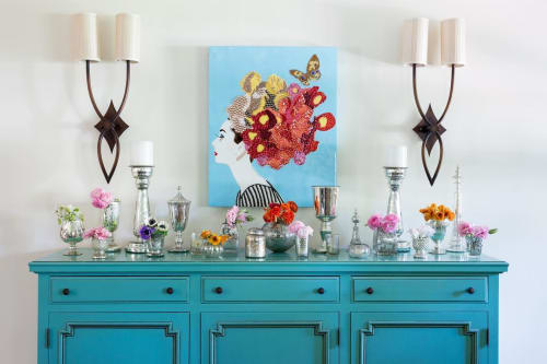 Paintings by Ashley Longshore at Private Residence, New York - Audrey in Blue