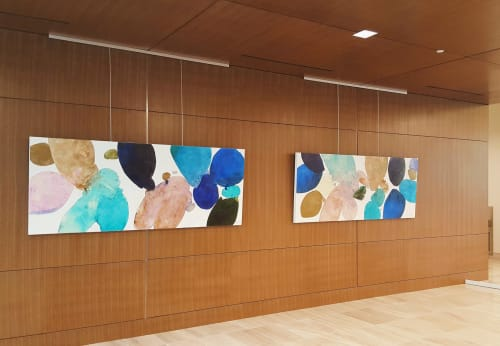 Wall Hangings by Meredith Pardue seen at Lamar Central, Austin - Waters of the Colorado I & II