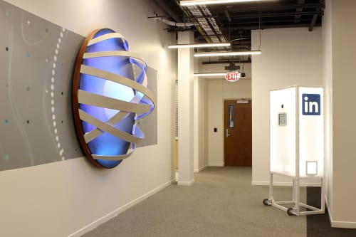 Sculptures by VESL seen at LinkedIn - Omaha, Omaha - The Future is Bright