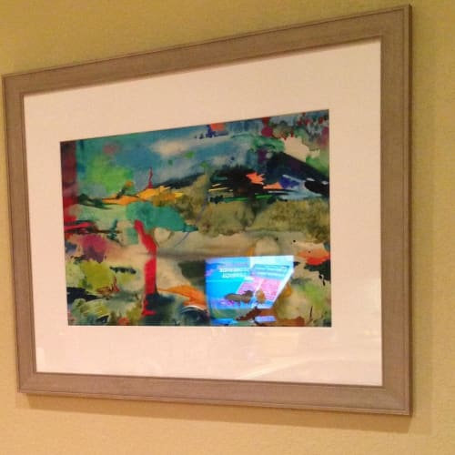 Paintings by Julie Shunick Brown seen at Private Residence, Fort Worth - Abstract Painting